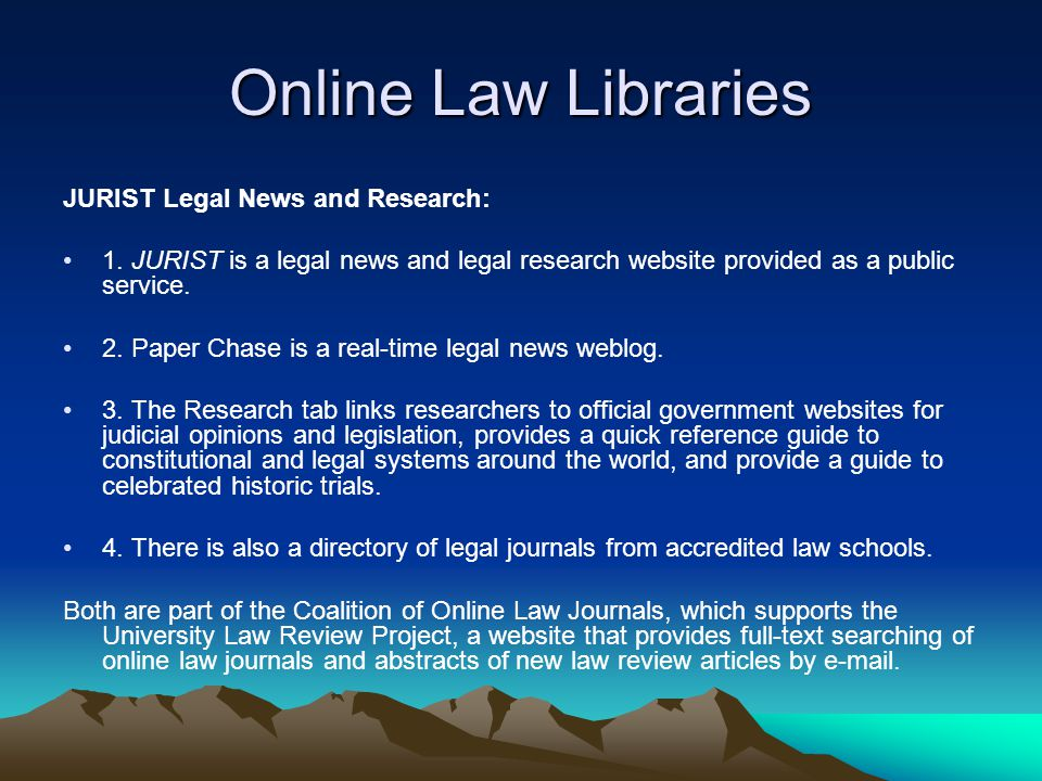 Online Law Libraries JURIST Legal News and Research: