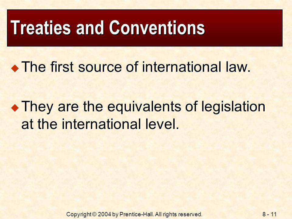 Treaties and Conventions