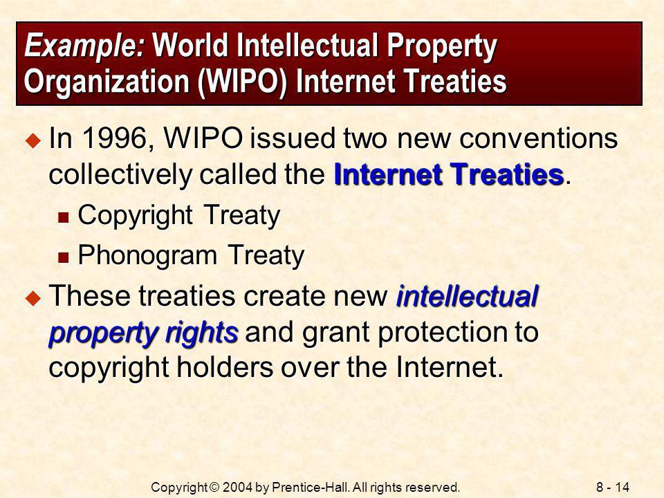 Example: World Intellectual Property Organization (WIPO) Internet Treaties