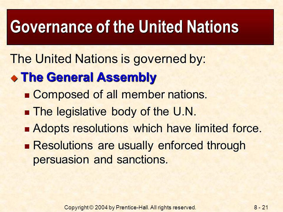 Governance of the United Nations