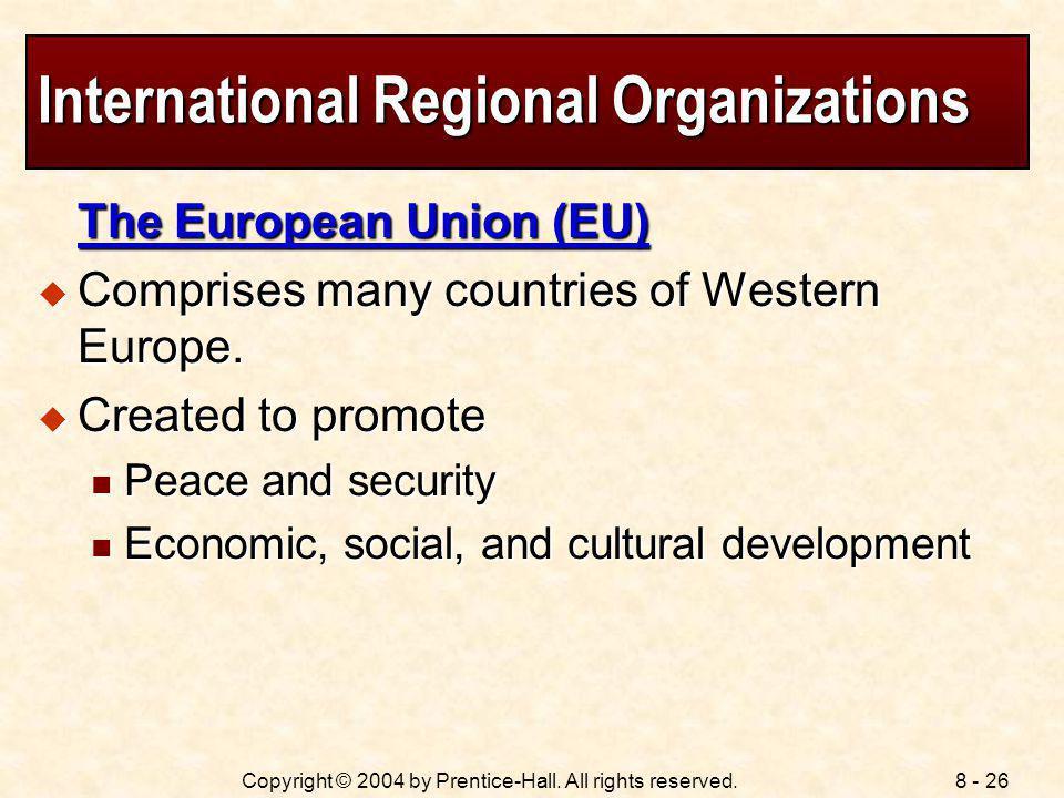 International Regional Organizations