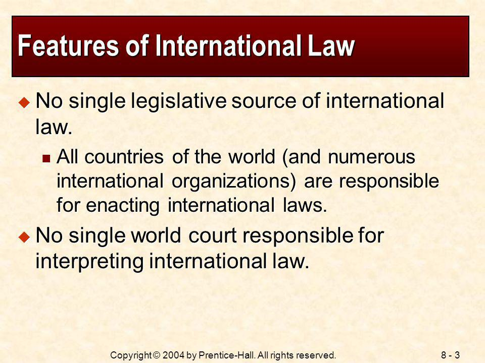 Features of International Law