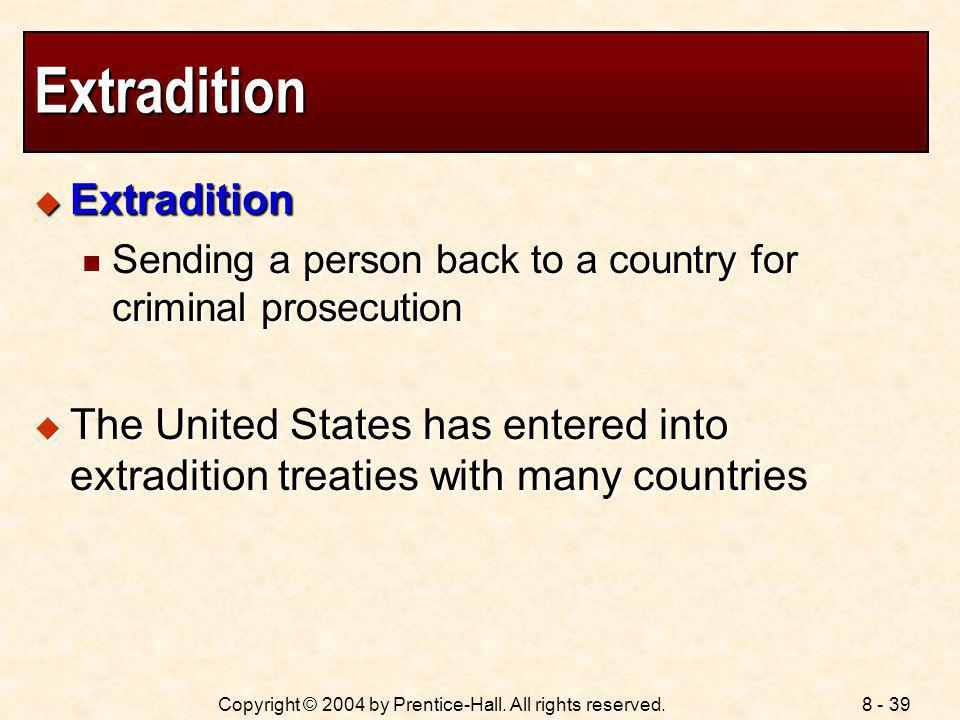 Extradition Extradition