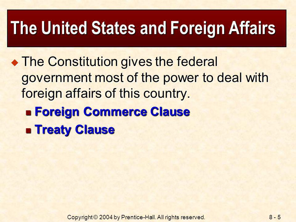 The United States and Foreign Affairs
