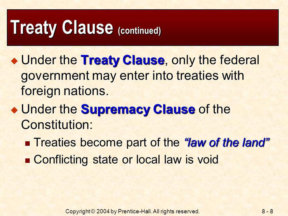 Treaty Clause (continued)