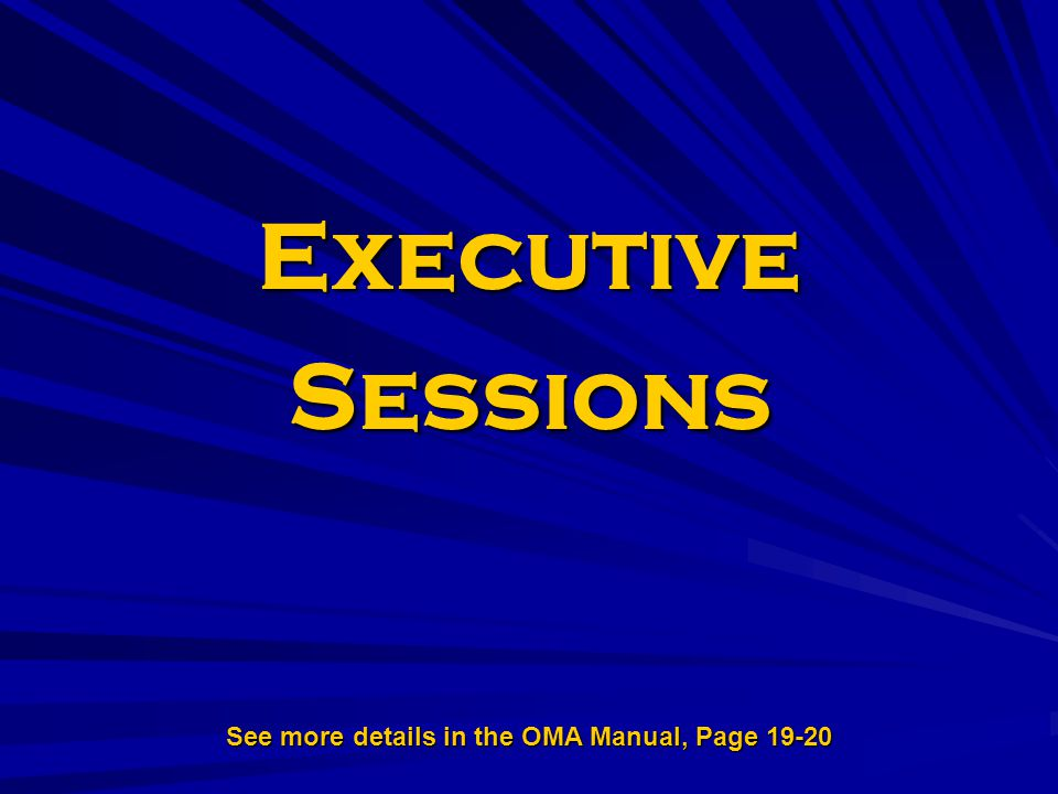 See more details in the OMA Manual, Page 19-20