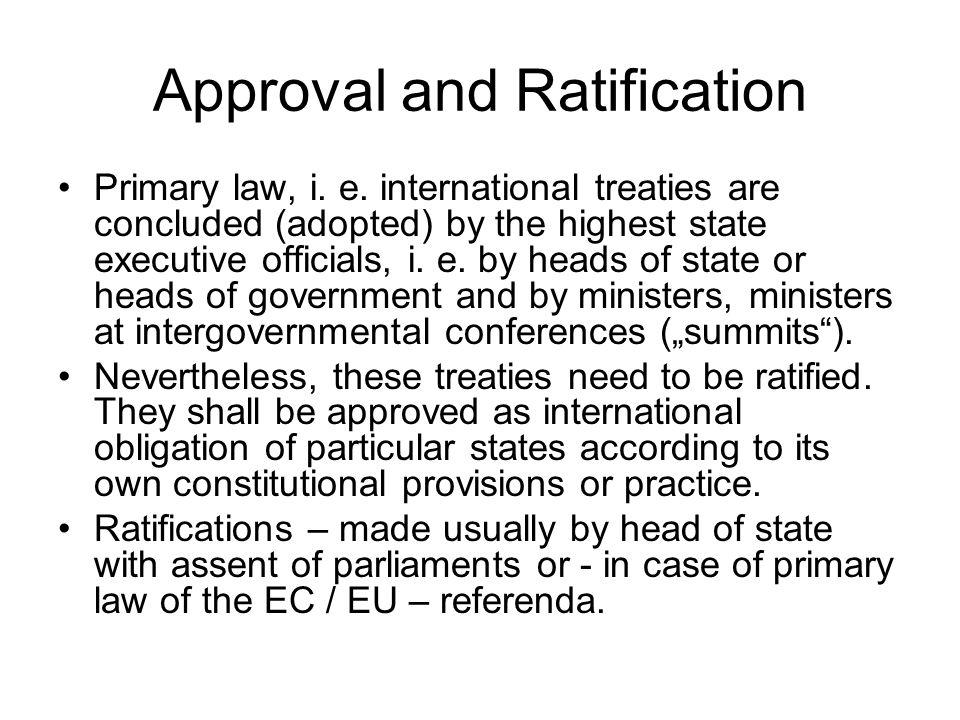 Approval and Ratification