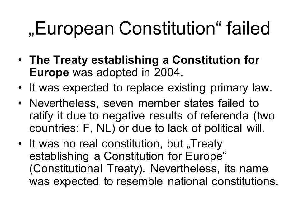 """""""European Constitution failed"""