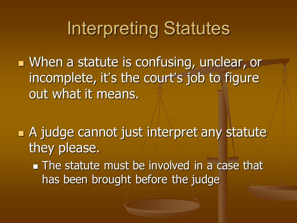 Interpreting Statutes