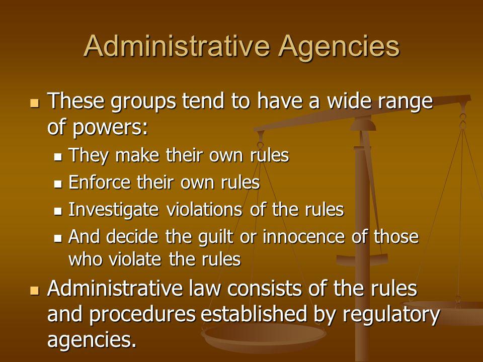 Administrative Agencies