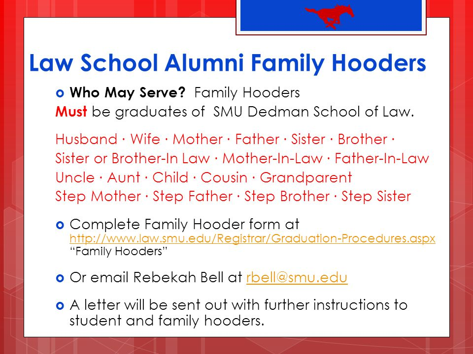 Law School Alumni Family Hooders