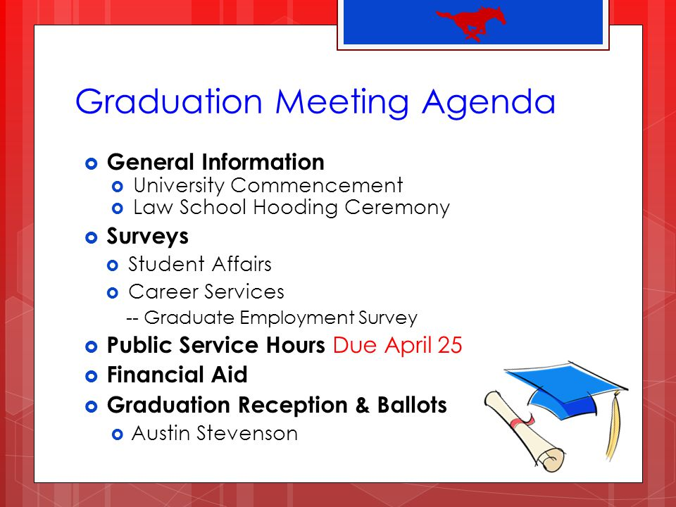 Graduation Meeting Agenda