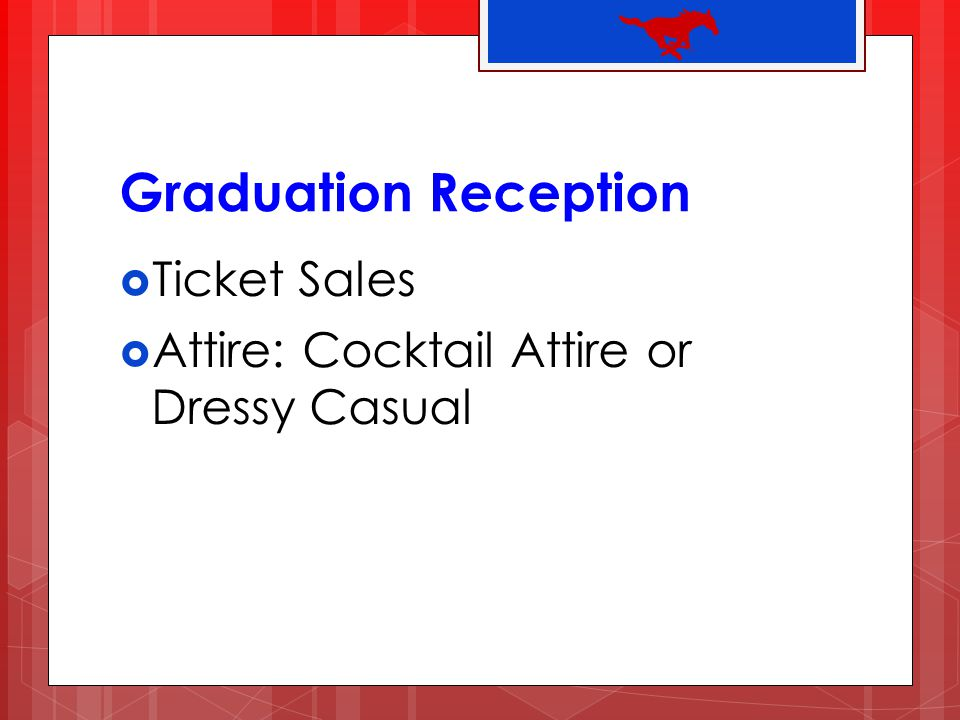Graduation Reception Ticket Sales