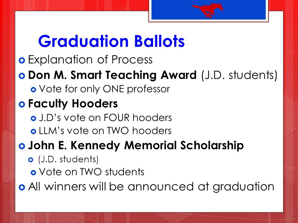 Graduation Ballots Explanation of Process