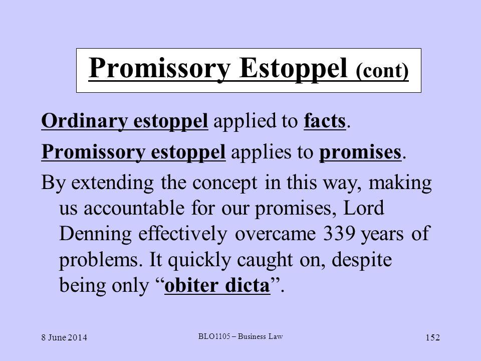 Promissory Estoppel (cont)