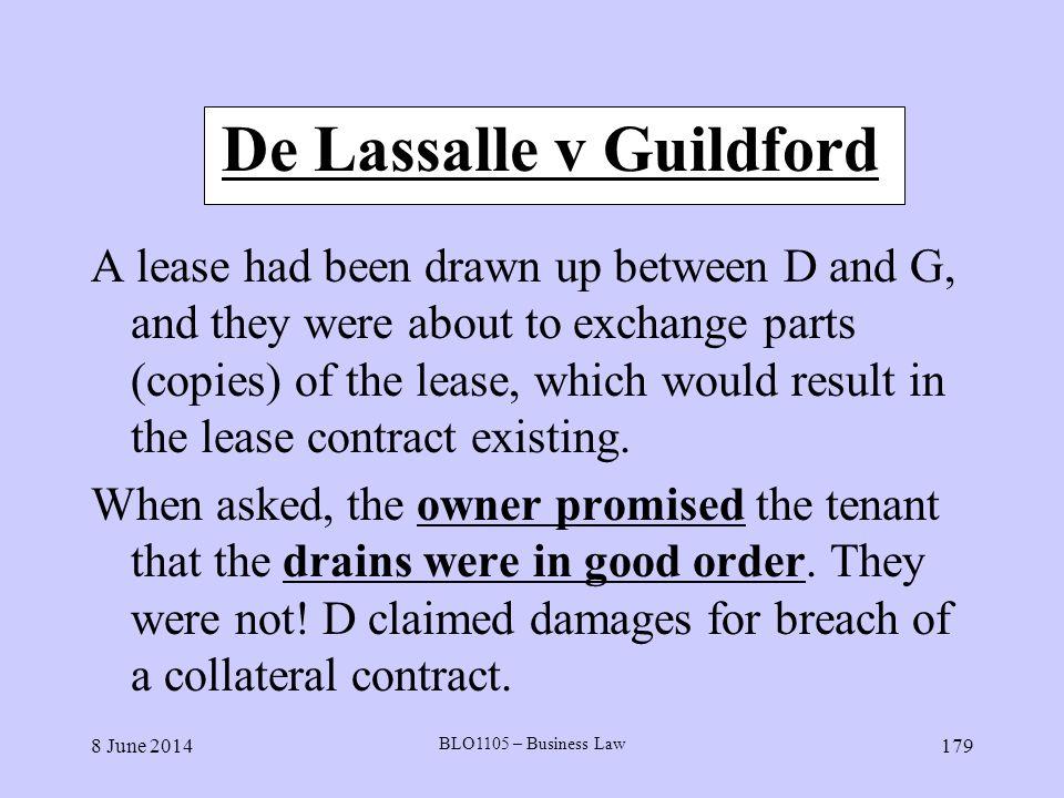 De Lassalle v Guildford
