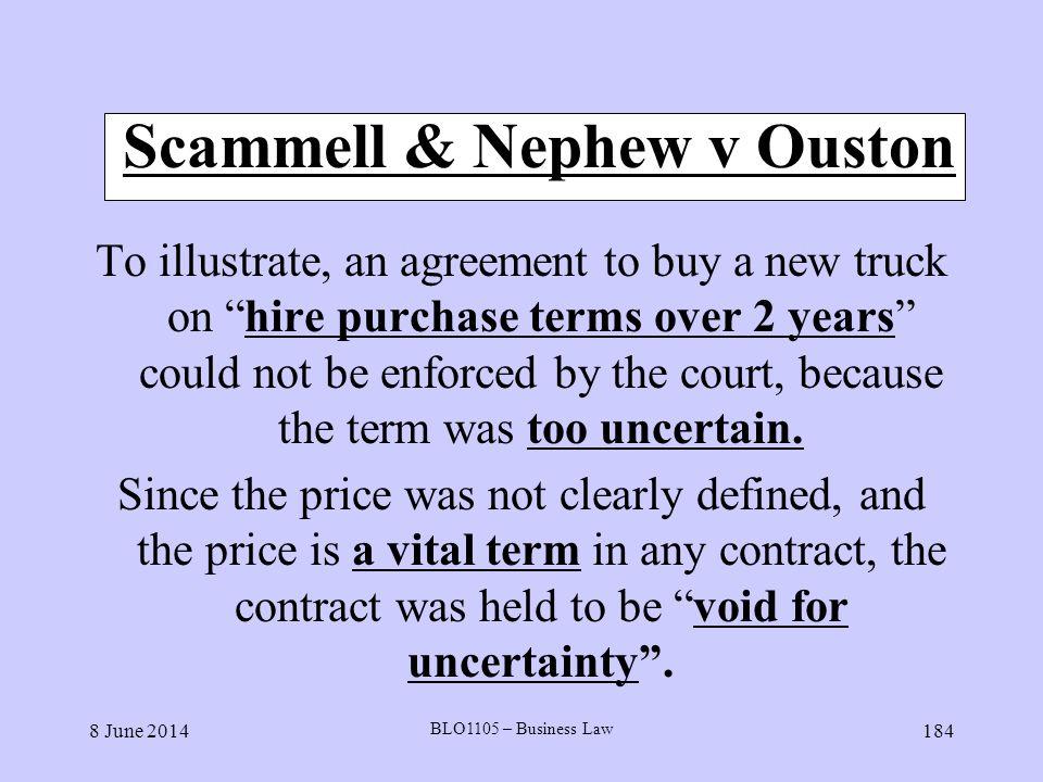 Scammell & Nephew v Ouston