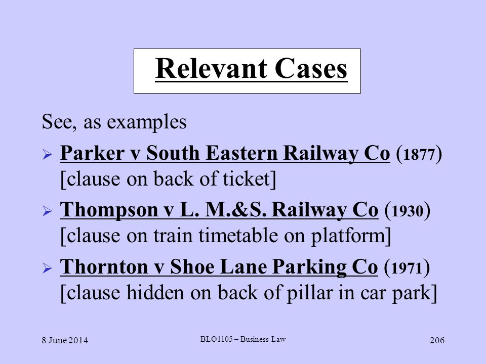 Relevant Cases See, as examples