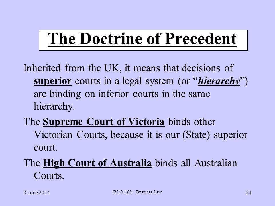 doctrine of precedent definition