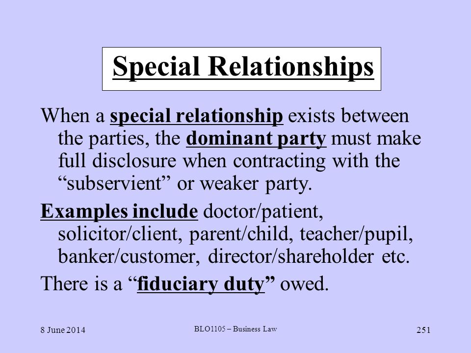 Special Relationships