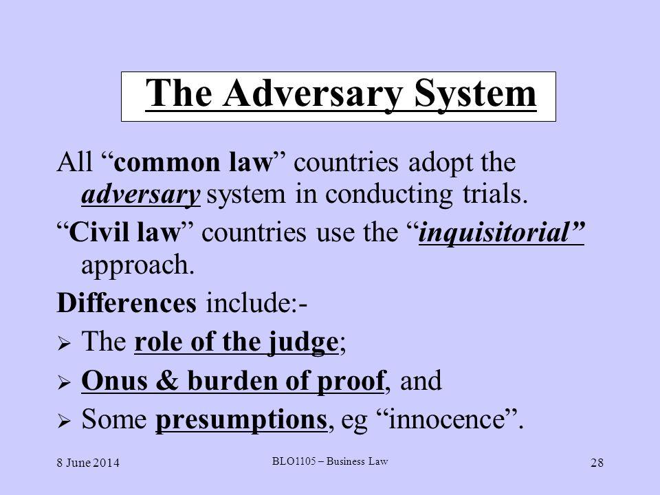 adversary vs civil law