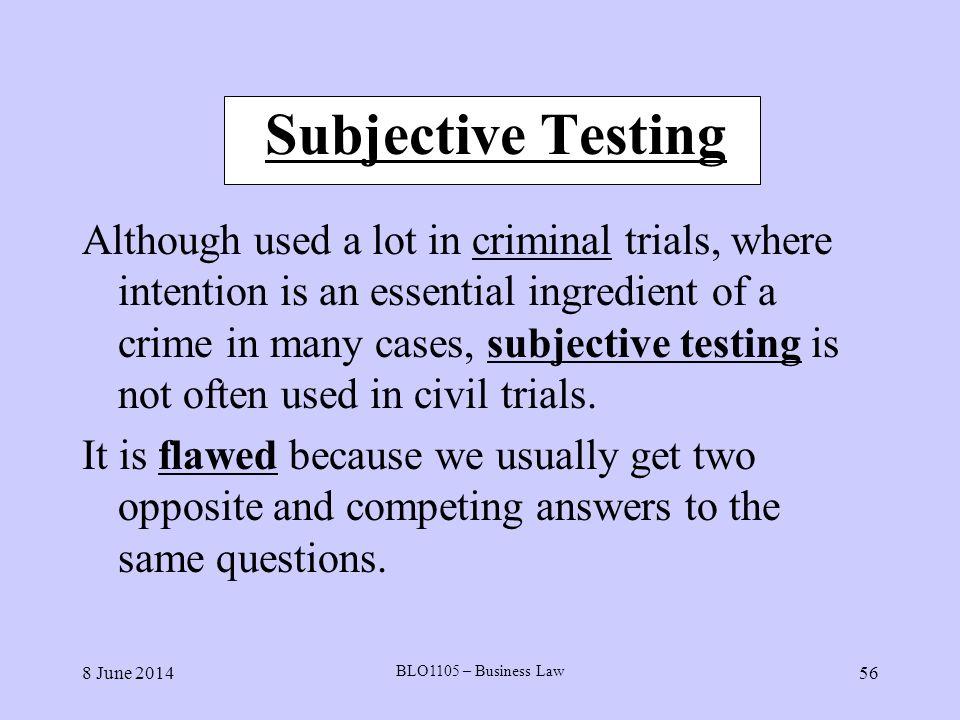 Subjective Testing