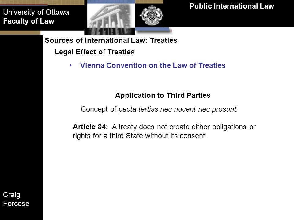 Public International Law Application to Third Parties