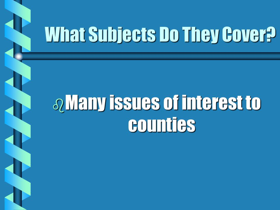 What Subjects Do They Cover