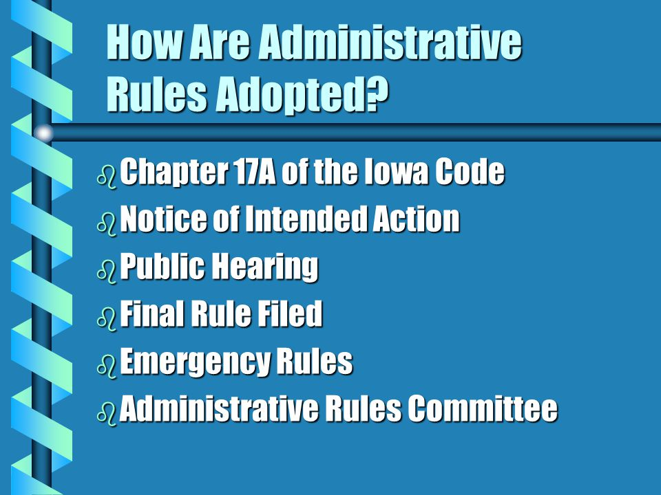 How Are Administrative Rules Adopted