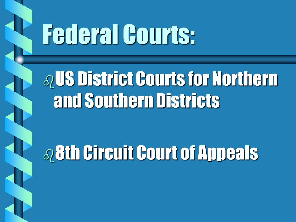 Federal Courts: US District Courts for Northern and Southern Districts