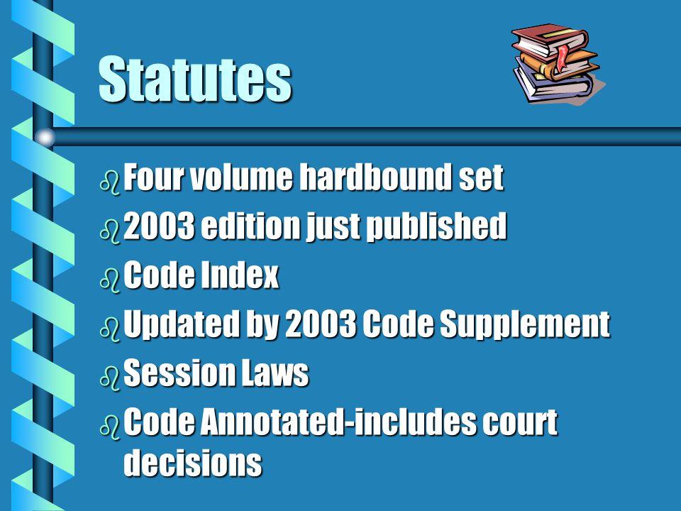 Statutes Four volume hardbound set 2003 edition just published