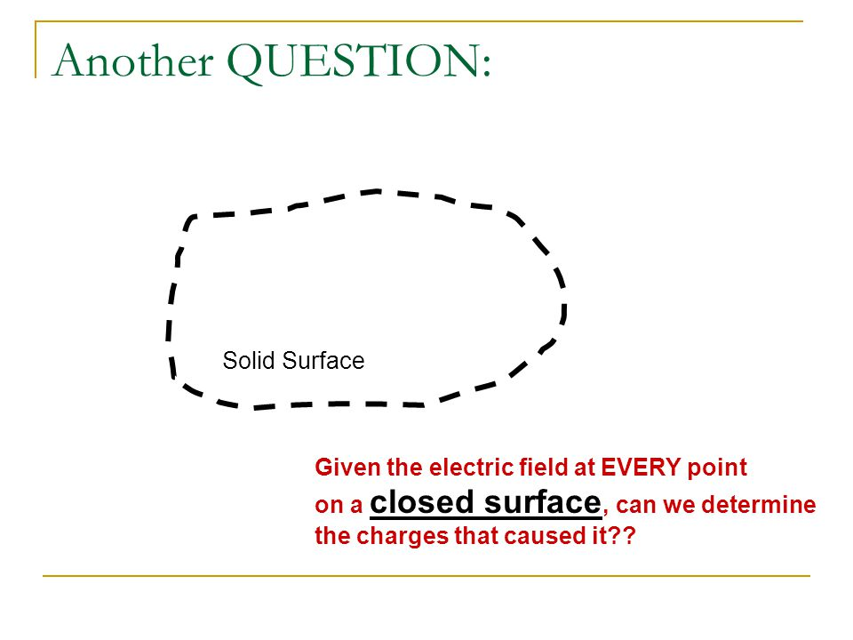 Another QUESTION: Solid Surface