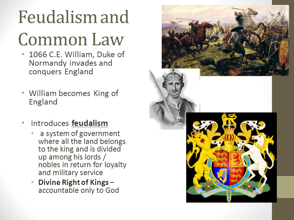Feudalism and Common Law