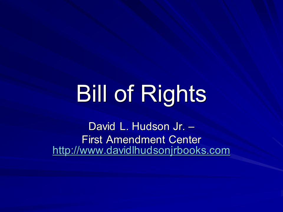 First Amendment Center http://www.davidlhudsonjrbooks.com