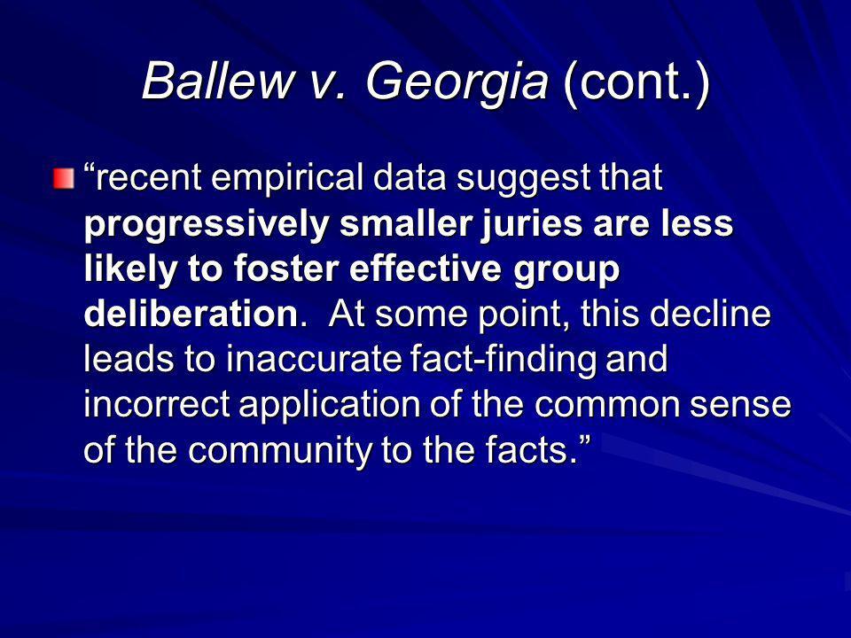 Ballew v. Georgia (cont.)
