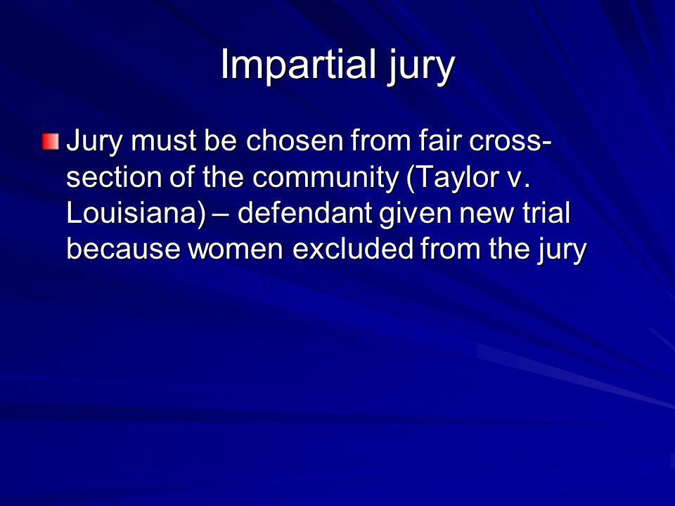 Impartial jury