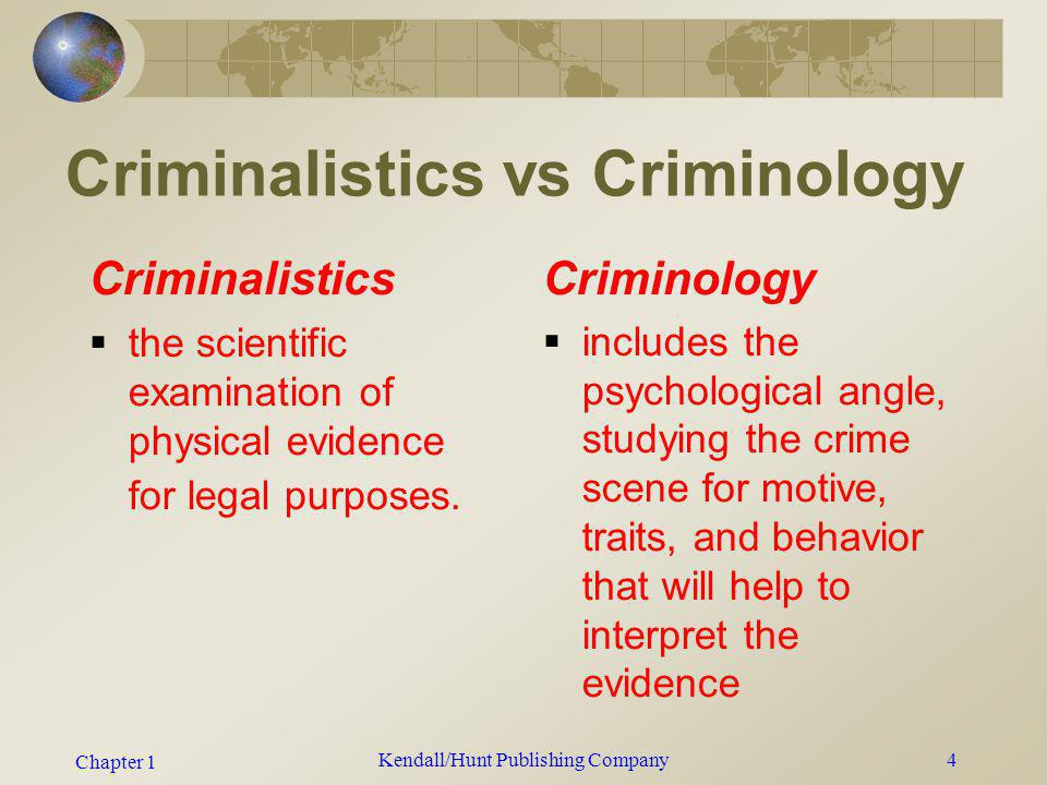 Criminalistics vs Criminology