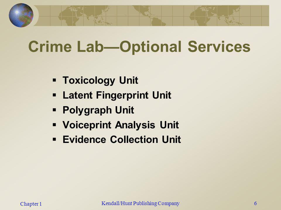 Crime Lab—Optional Services