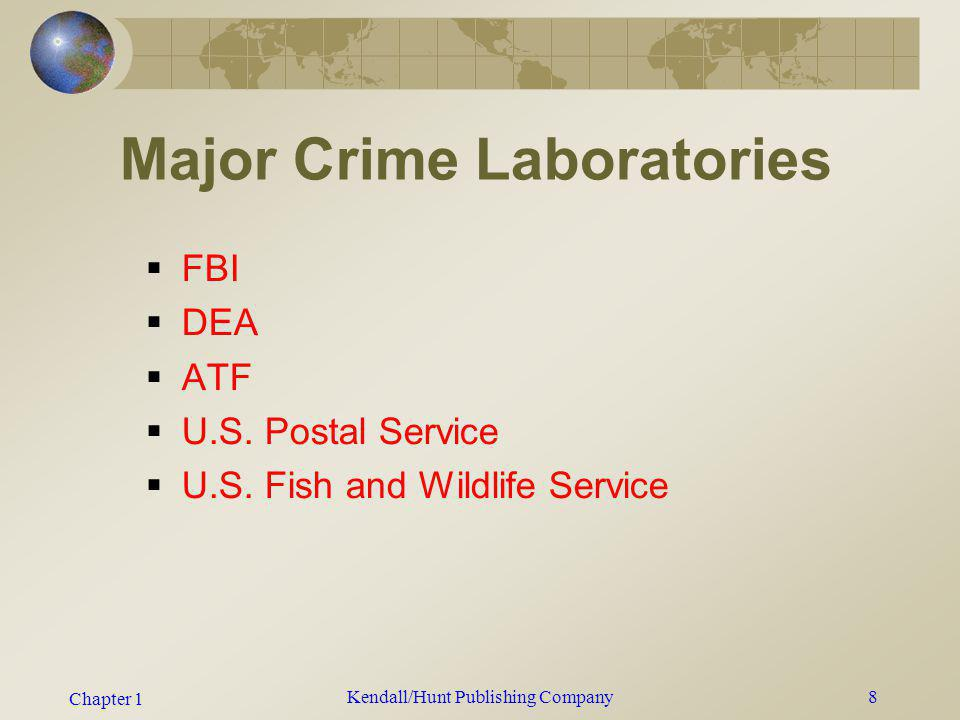 Major Crime Laboratories