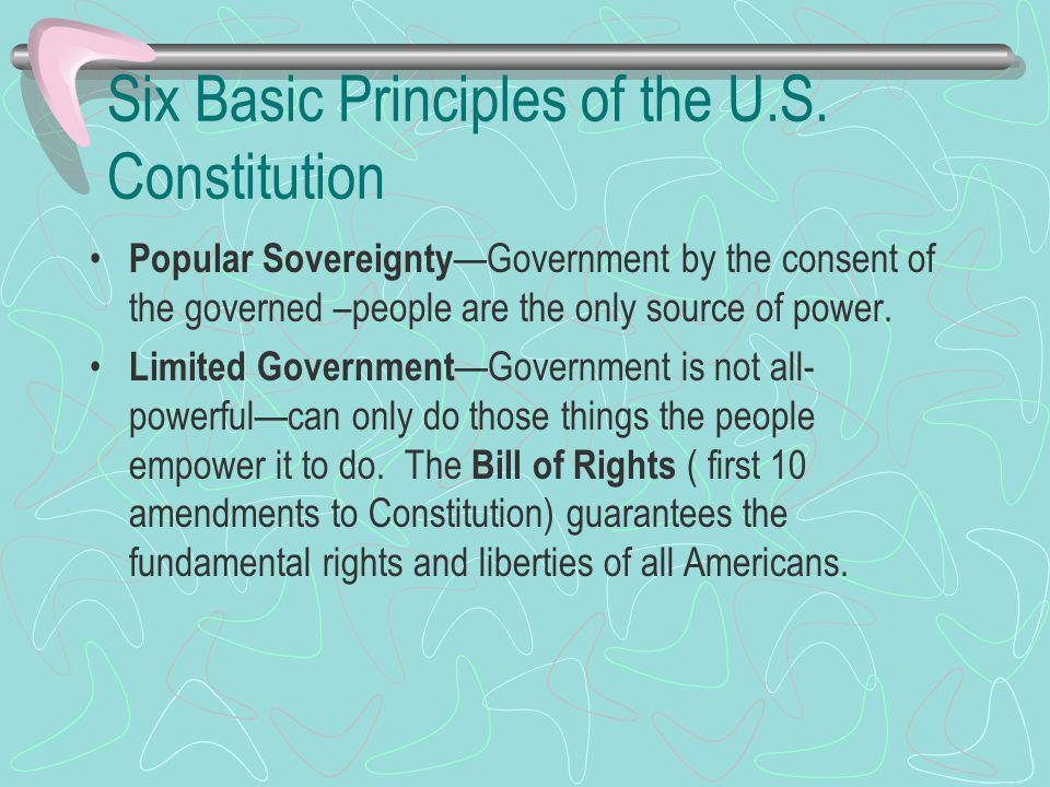 six basic principles of the constitution essay