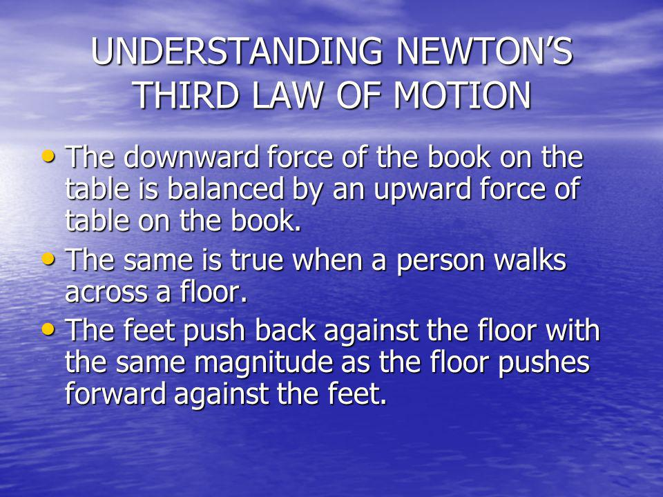 UNDERSTANDING NEWTON'S THIRD LAW OF MOTION