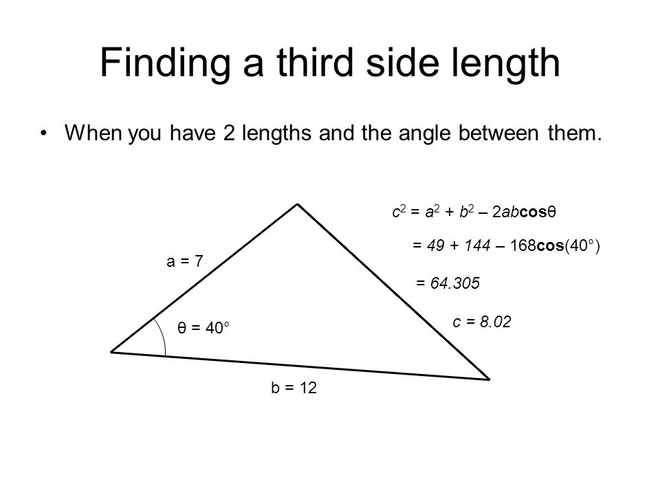 Finding a third side length