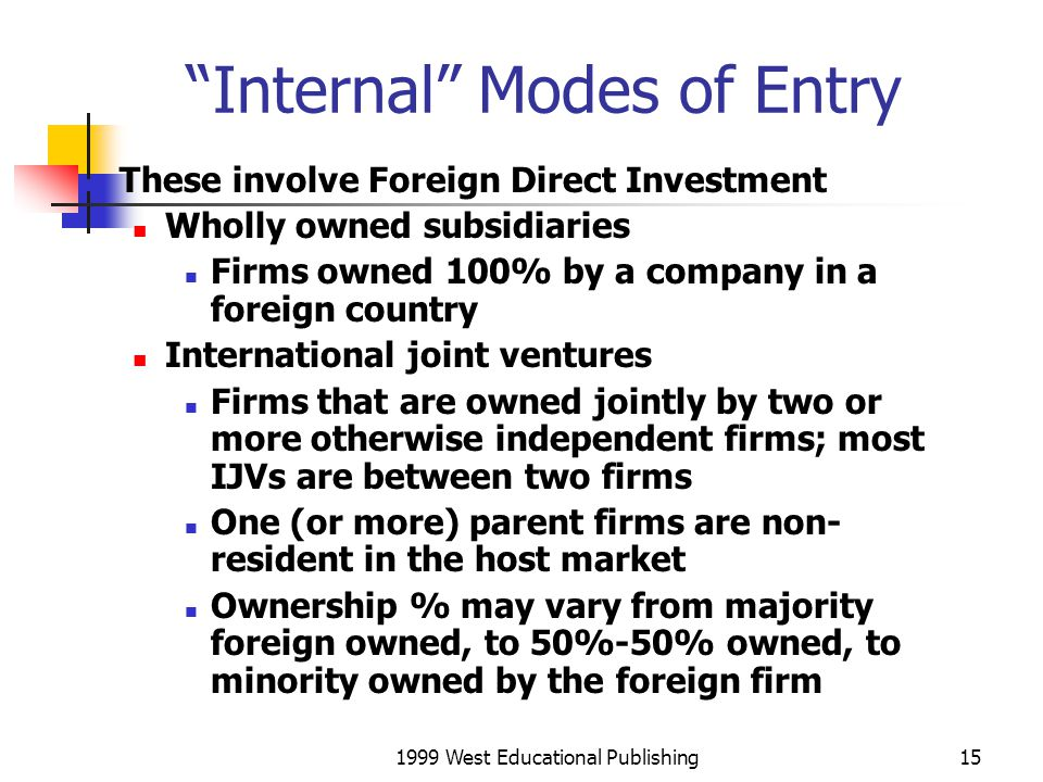 Internal Modes of Entry