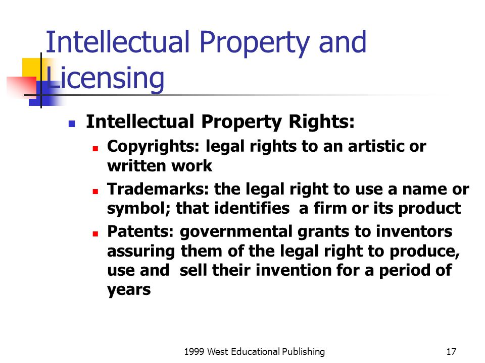 Intellectual Property and Licensing