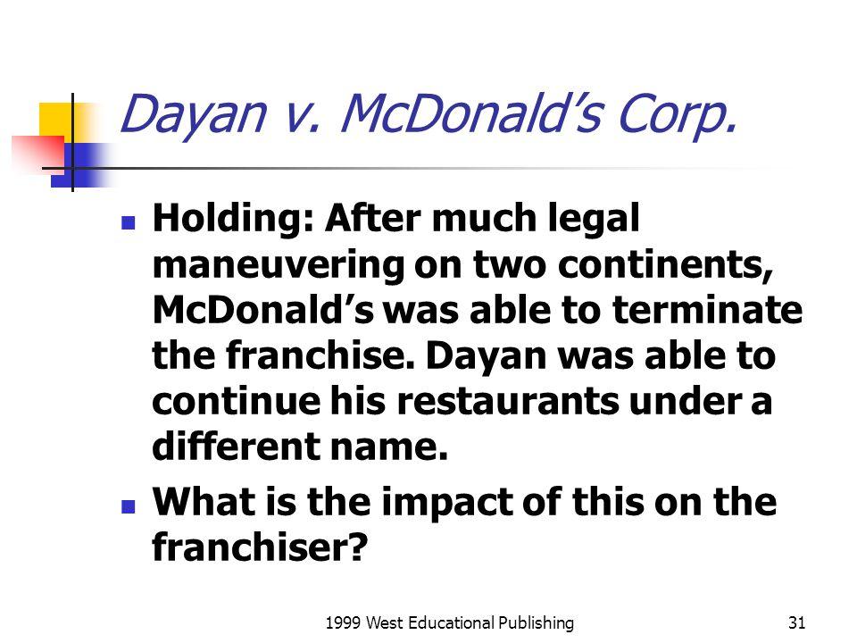 Dayan v. McDonald's Corp.