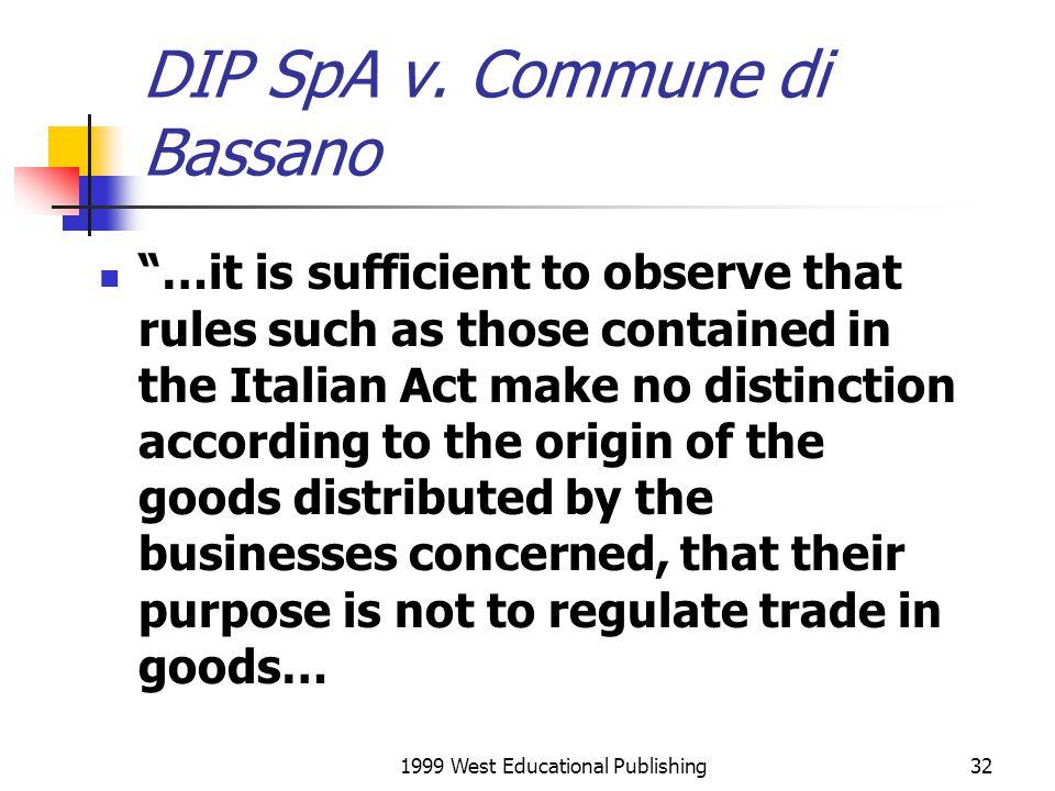 DIP SpA v. Commune di Bassano
