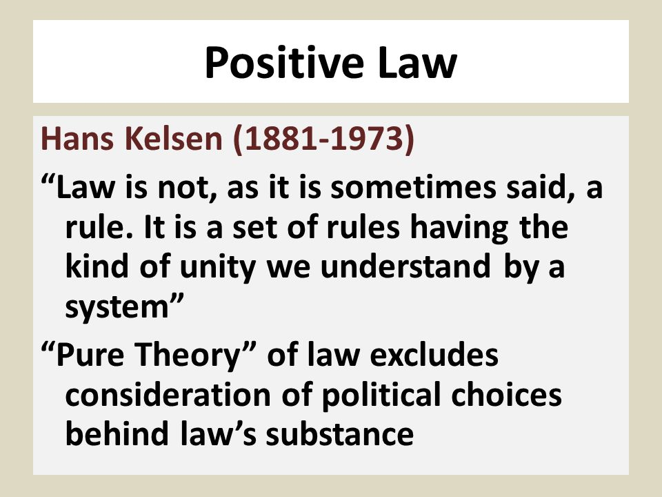The Pure Theory of Law