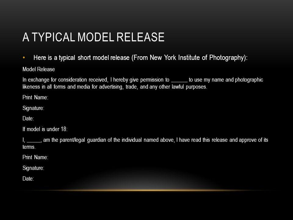 A typical model release