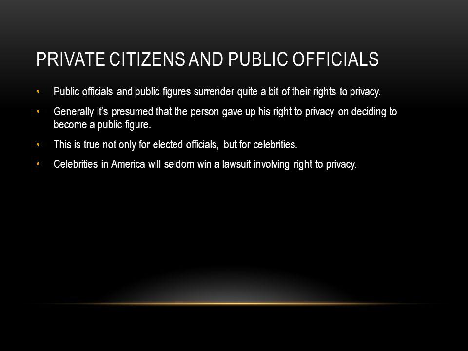 Private citizens and public officials