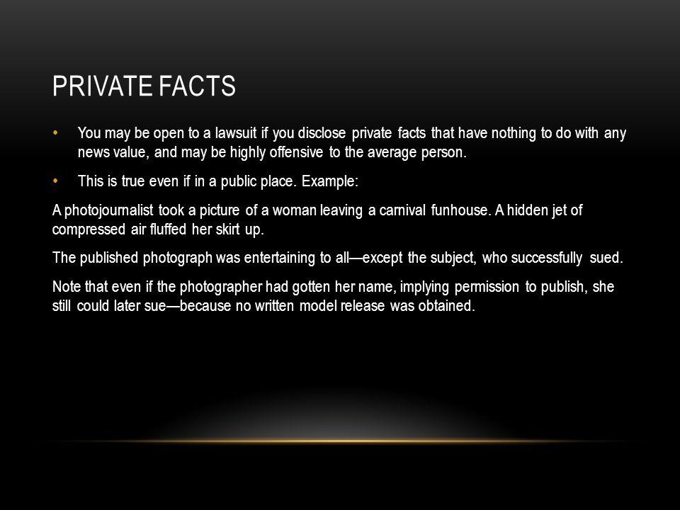 Private facts